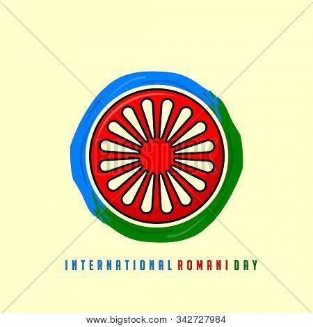 International Romani Day On 8 April Vector Design