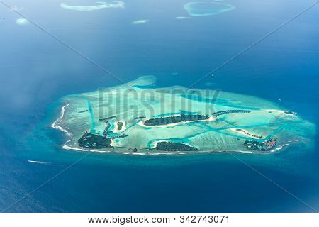 Maldive Island Resort Top View Beautiful Nature Scenery Best Tourist Place To Visit In The World Lux