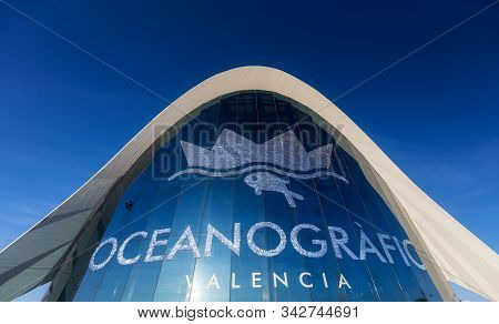 Valencia Spain - Jan 20: Oceanographic, A Marine Complex Part Of City Of Arts And Sciences