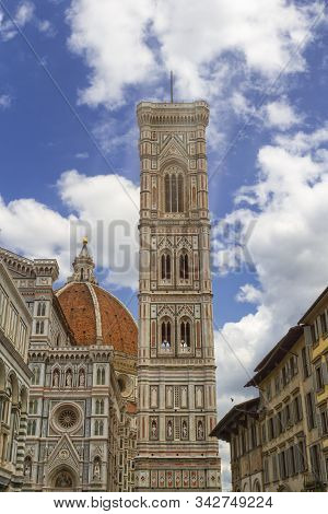 Cathedral Of Santa Maria Del Fiore And Giottos Bell Tower In Florence, Italy