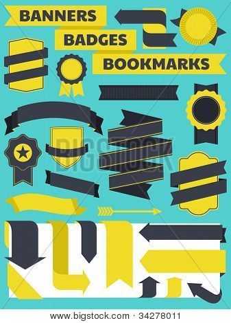 Banners, Badges And Bookmarks Collection