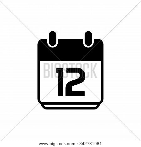 Calendar Icon 12 Isolated On White Background, Calendar Icon Vector Flat Modern, Calendar Icon, Cale