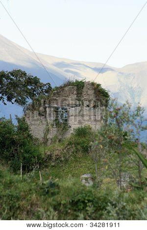 destroyed Ecuadorian Farmhouse