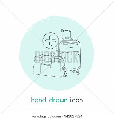 Extra Baggage Icon Line Element. Illustration Of Extra Baggage Icon Line Isolated On Clean Backgroun