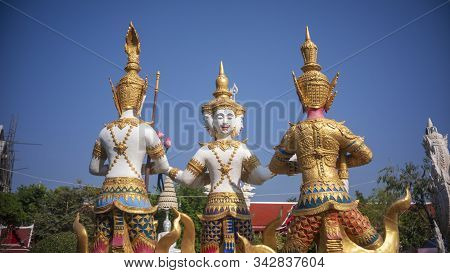 Goddess Statue In Phetchaburi Province Of Thailand