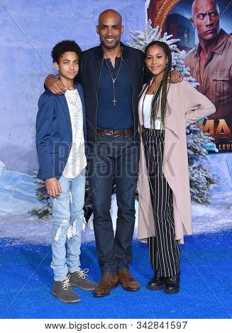LOS ANGELES - DEC 09:  Boris Kodjoe, Nicolas Kodjoe and Sophie Kodjoe arrives for the ÔJumanji: The Next LevelÕ Los Angeles Premiere on December 09, 2019 in Hollywood, CA