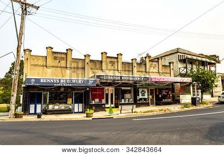 Cobargo, Nsw - December 20, 2019: Shops In The Township Of Cobargo In Nsw (new South Wales) Days Bef