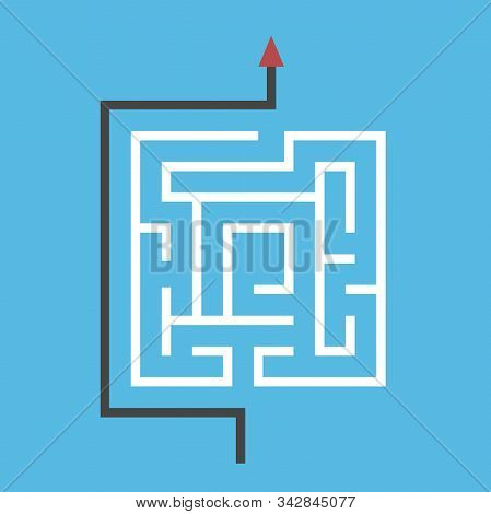Square Maze, Way Around It. Simplicity, Simple Efficient Solution Of Dfficult Problem, Shortcut And