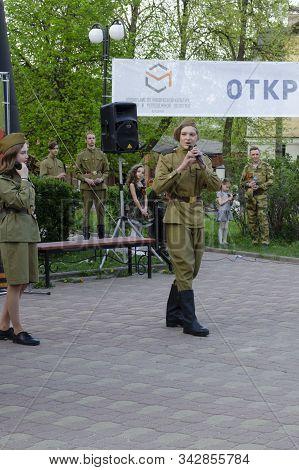 Vladimir, Russia May 08, 2019 Vladimir, Nikitsky Boulevard, Presentation Dedicated To The Day Of Vic