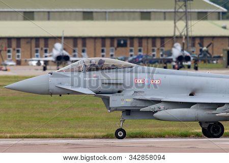 Raf Coningsby, Lincolnshire, Uk - July 4, 2014: Royal Air Force (raf) Eurofighter Ef-2000 Typhoon Fg