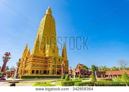 Wat Mahathat Watchiramongkhon, Or Locally Known As Wat Bang Thong In Krabi, Thailand