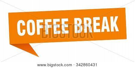 Coffee Break Speech Bubble. Coffee Break Sign. Coffee Break Banner