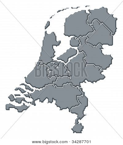 Karta över Nederländerna