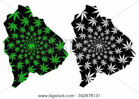 Raymah Governorate (governorates Of Yemen, Republic Of Yemen) Map Is Designed Cannabis Leaf Green An