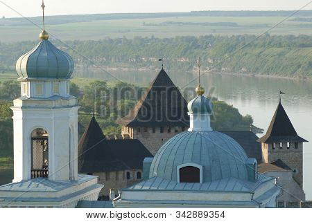 Towers Of Khotyn Fortress And Dome Of Alexander Nevsky Church