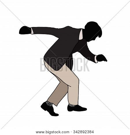 Swing Jazz Party Time. Dancing Couples Isolated On White In Cartoon Style. People In 40s Or 50s Styl