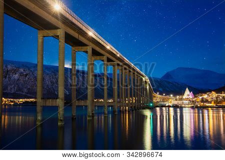 Tromso At Starry Night, Norway, Tromso At Winter Time, Christmas in Tromso, Norway