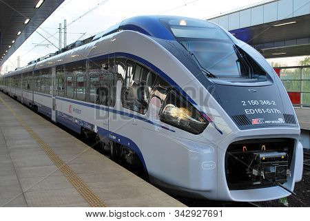 Warsaw,poland. August 2016.dart Ed161 Long-distance Train, Produced By The Polish Company Pesa For P