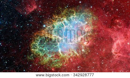 The Crab Nebula Is A Supernova Remnant In The Constellation Of Taurus. Elements Of This Image Furnis