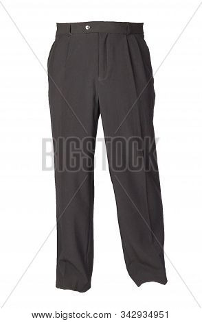 Black Pants Isolated On White Background.fashion Mens Trousers