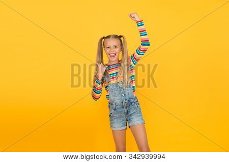Split Ends Treatment. Joyful Baby. Girl Cute Smiling Child Long Hair Double Ponytails Hairstyle. Pre