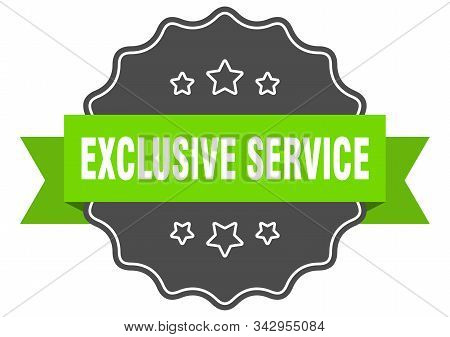 Exclusive Service Isolated Seal. Exclusive Service Green Label. Exclusive Service
