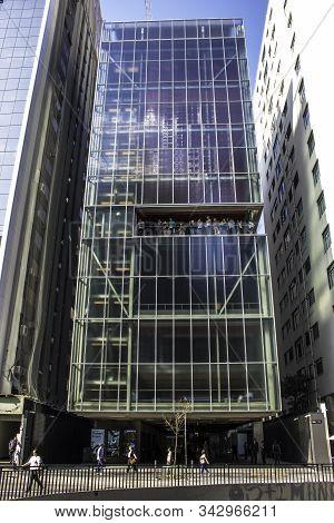 Sao Paulo, Brazil, September 20, 2017. Facade Of Moreira Salles Institute At Paulista Avenue In Sao
