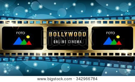 Bollywood Indian Web Banner, Gold Movie Film