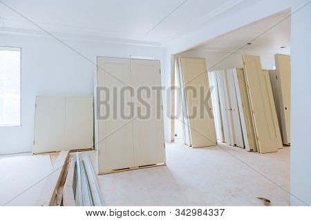 Apartment Remodeling Under Construction, Remodeling Installing Material New Home For Repairs