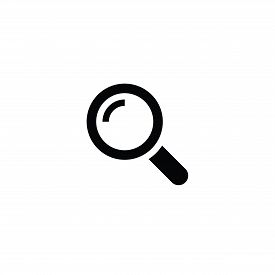 Search Icon. Magnifying Glass In Simple Design. Search Vector Icon For Web Design. Magnifying Glass
