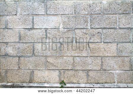 A Grey Cinderblock Wall Background