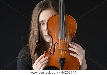 Girl Behind Violin