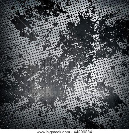 splash on metal mesh background poster