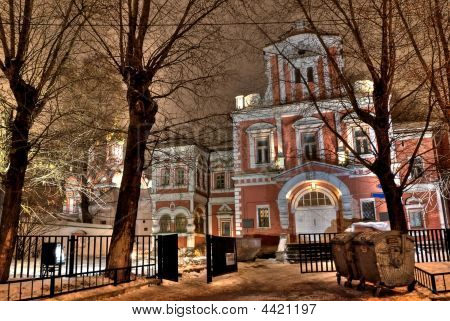 Old Medieval House Of Csar Sexton In Moscow. Russia. Night View.
