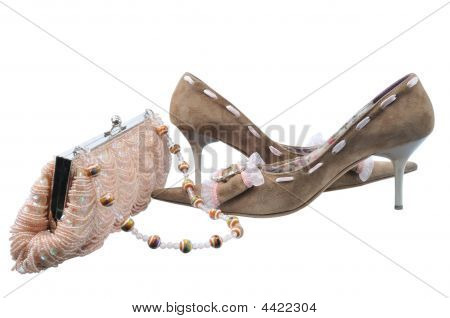 Pair Glamour Brown Shoes