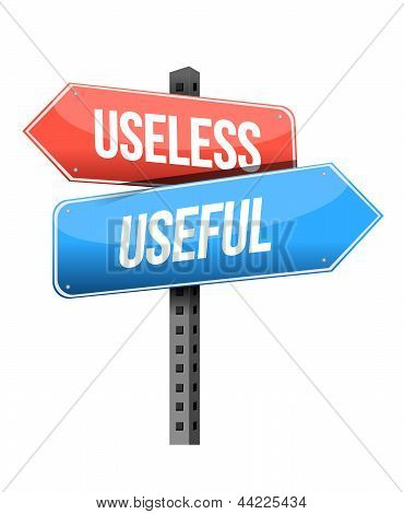 Useless, Useful Road Sign
