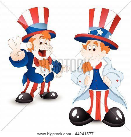 Set of Uncle Sam Portrait