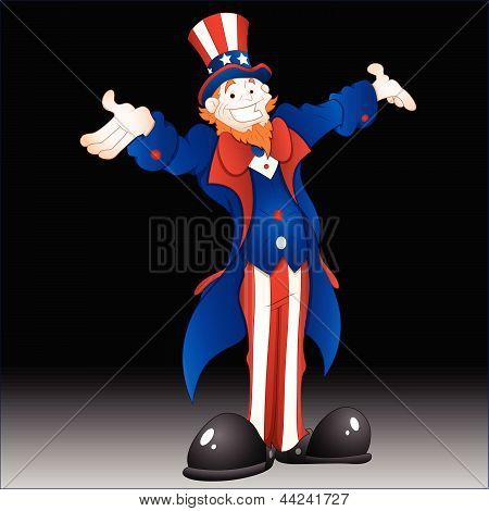Happy Uncle Sam Vector Illustration