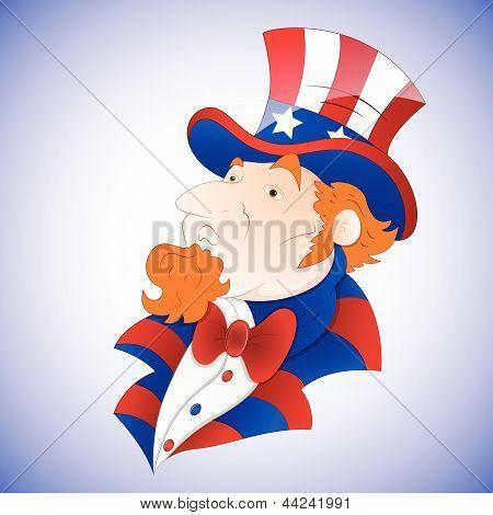 Cartoon Uncle Sam Vector