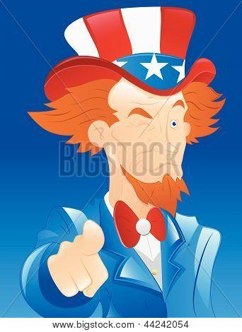 Winking Uncle Sam