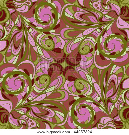 Pink-green Floral Seamless