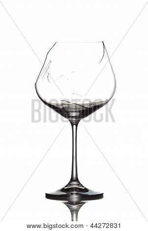 Crushed Wineglass