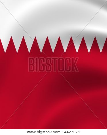 Qatar State Of Flag Closeup