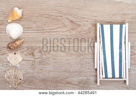Deckchair And Sea Shells