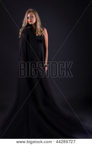 Serious young fashion woman