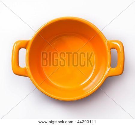 Samll orange cooking pot