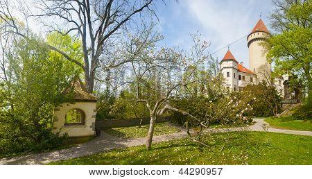 Beautiful castle Konopiste in spring, Czech Republic