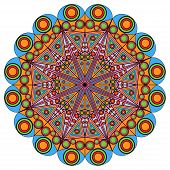 Colorful round arabesque patterns. Elements for design poster