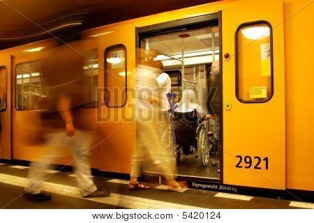 Wheelchair In Metro