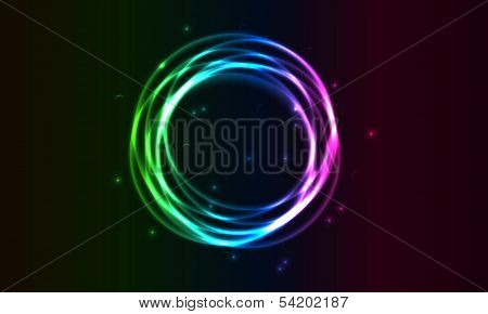 shining color circles